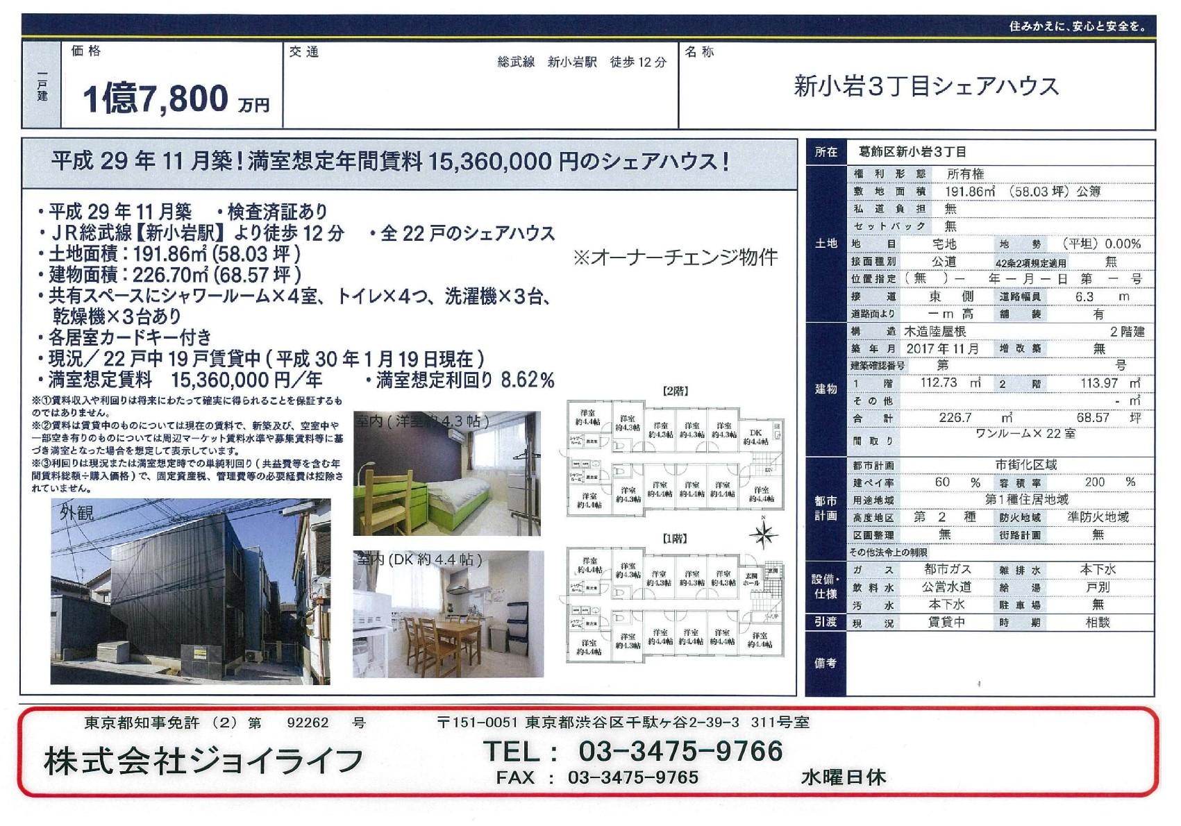2017新小岩12分17800萬SH-001